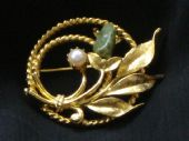 Vintage 1960's Sarah Coventry Gilt Brooch with Cultured Pearl (SOLD)